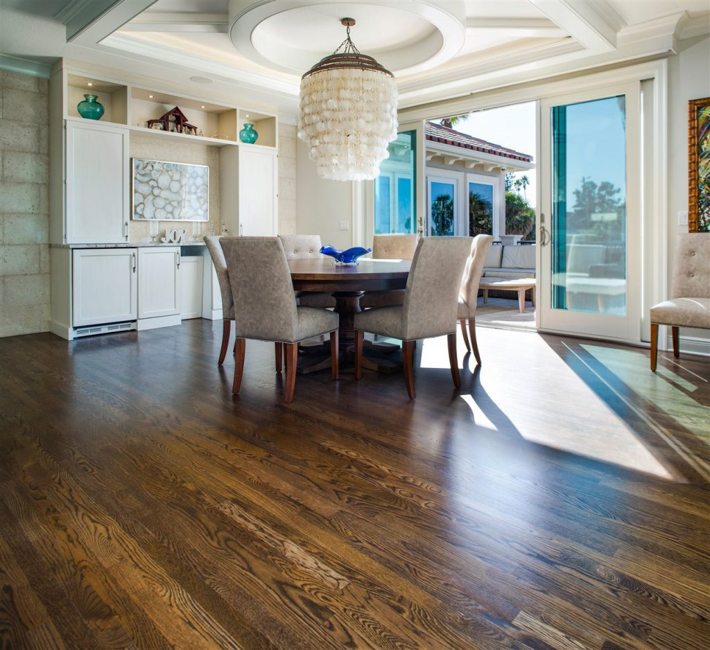 dining area with wood floor | Lighthouse Inspections | room redesign Connecticut